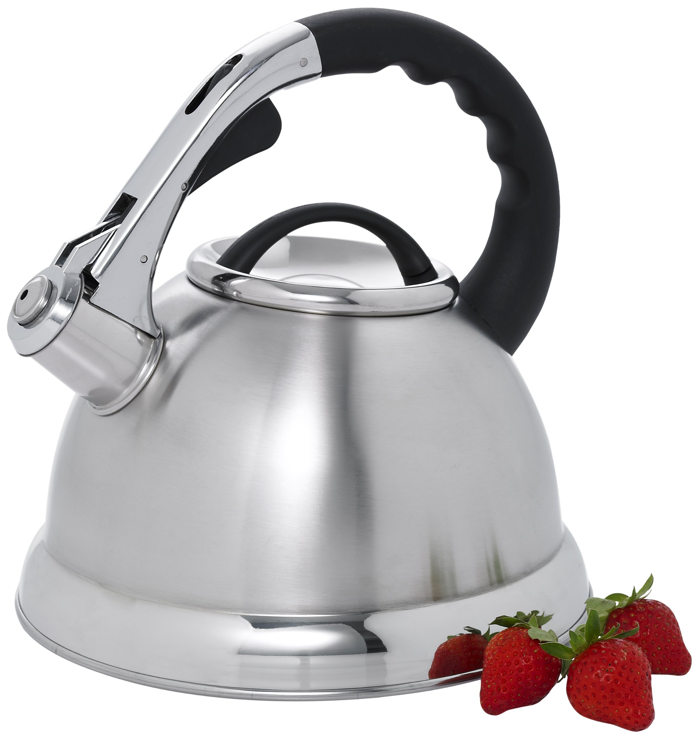 Creative Home 72223 Camille Stainless Steel Whistling Tea Kettle, 3-Quart