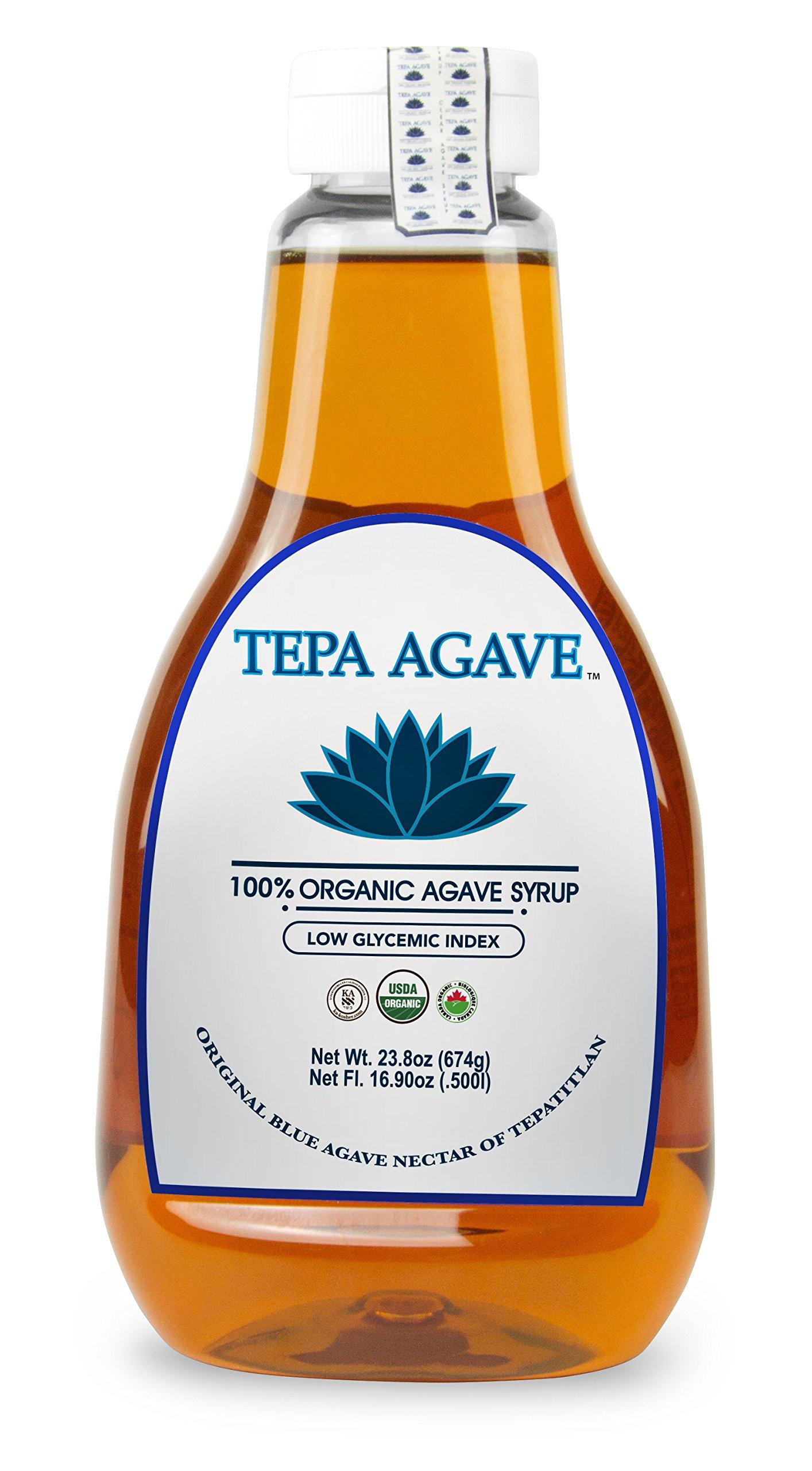 Tepa Agave 100% Pure Organic Blue Agave Syrup - Original Agave Flavor - 23.8 oz