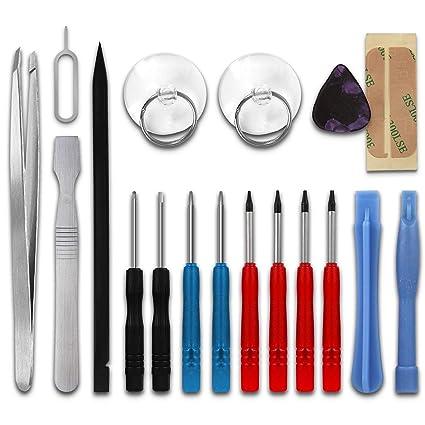 subtel Kit 18-Piezas reparación móviles, con 2 x Destornilladores Pentalobe, 4 x Destornilladores TORX®, Pinzas & más | Herramientas para la ...