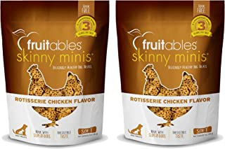 product image for Fruitables Skinny Minis Grain Free Soft Dog Treats Rotisserie Chicken Flavor (2 Pack) 5 oz Each
