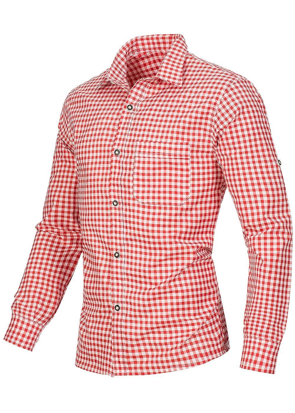 poignets avec boutons de manchette disponible dans 6/couleurs diff/érentes Chemise /à carreaux de costume traditionnel coupe ajust/ée
