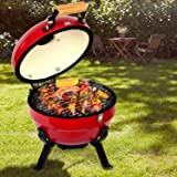 TUSY Ceramic Griller Charcoal Grill Advanced Portable Red