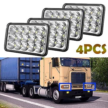 Amazon com: 4X6 Rectangular Headlights 4PCS for Trucks Peterbilt 379