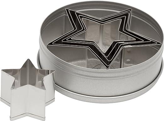Ateco Plain Edge Star Cutters (6 Piece Set)
