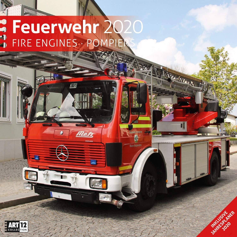 Feuerwehr 2020 Wandkalender   Broschürenkalender Im Hochformat  Aufgeklappt 30x60 Cm    Geschenk Kalender Mit Monatskalendarium Zum Eintragen