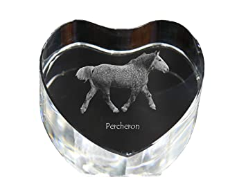 Amazon.com: Percheron, caballo de vidrio con forma de ...