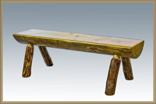 Montana Woodworks Glacier Country Collection Half Log Bench, 6-Feet