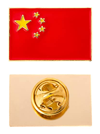Country of China Rectangle Flag Lapel Pin