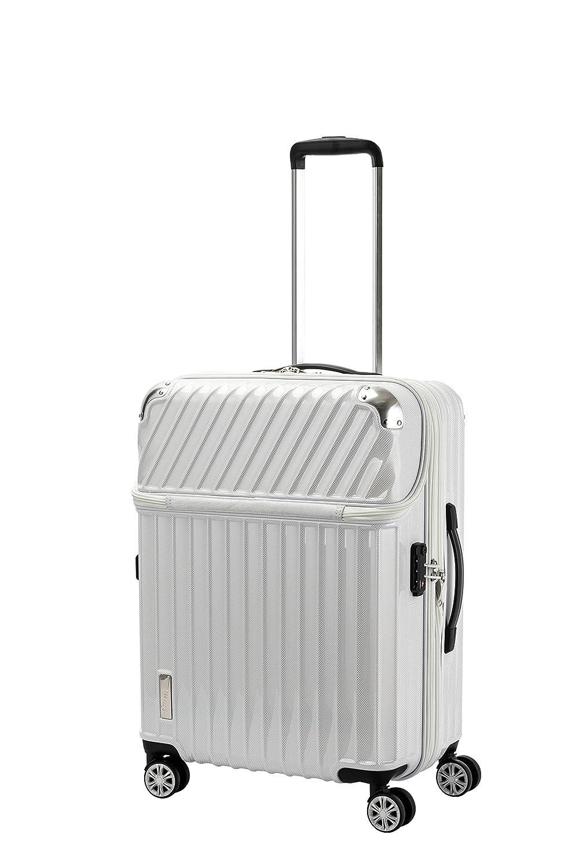トラベリスト TRAVELIST トップオープン スーツケース キャリーバッグ 旅行 61L (ホワイトカーボン)   B07FVVW4PJ