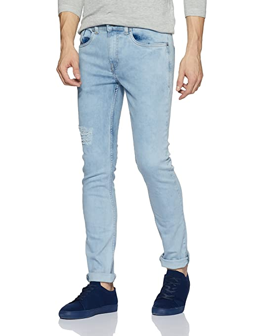 Amazon Brand - Symbol Men's Skinny Fit Stretchable Jeans Men's Jeans at amazon