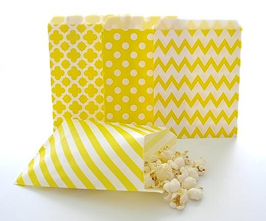 Amarillo boda Favor bolsas/Bulk Goody Bolsas para cumpleaños ...