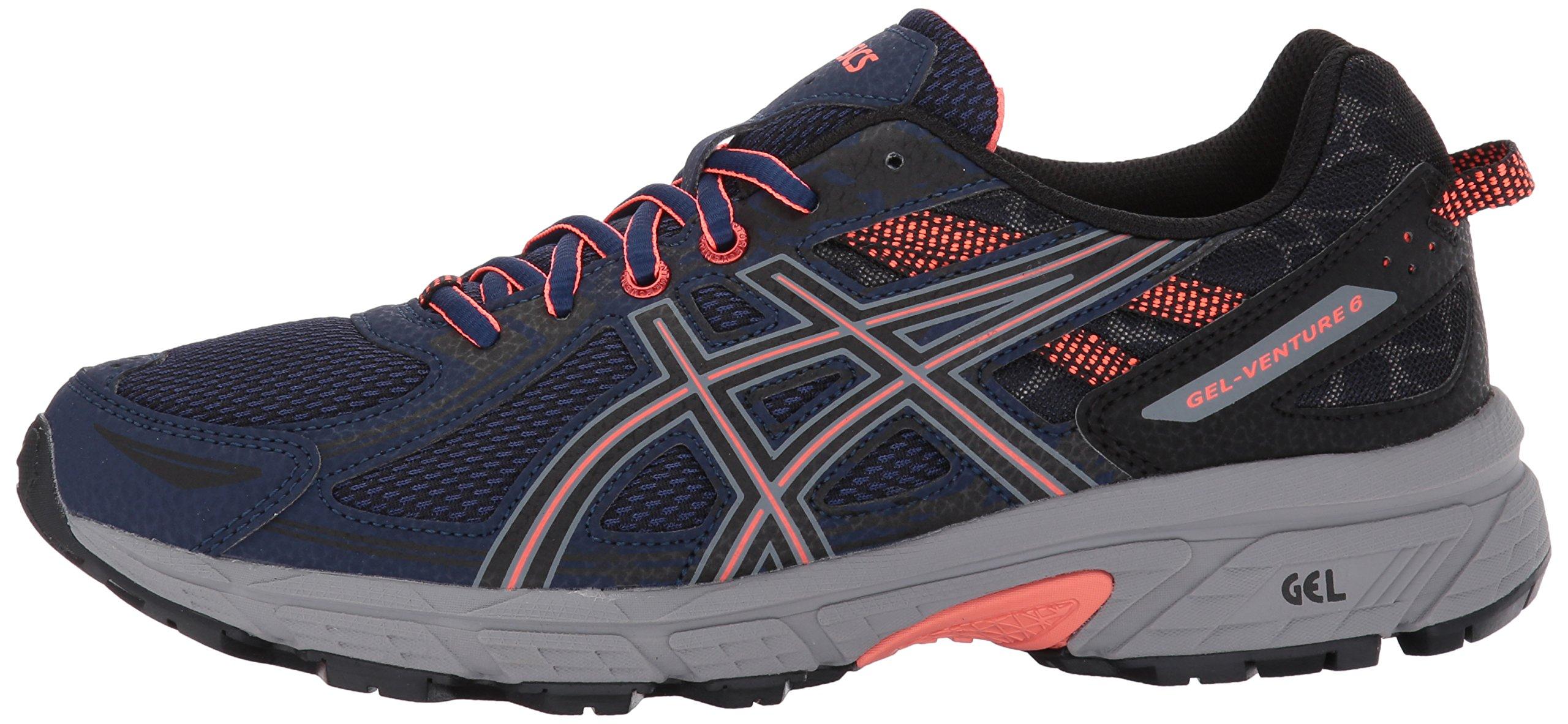 ASICS Women's Gel-Venture 6 Running-Shoes,Indigo Blue/Black/Coral,5 Medium US by ASICS (Image #5)