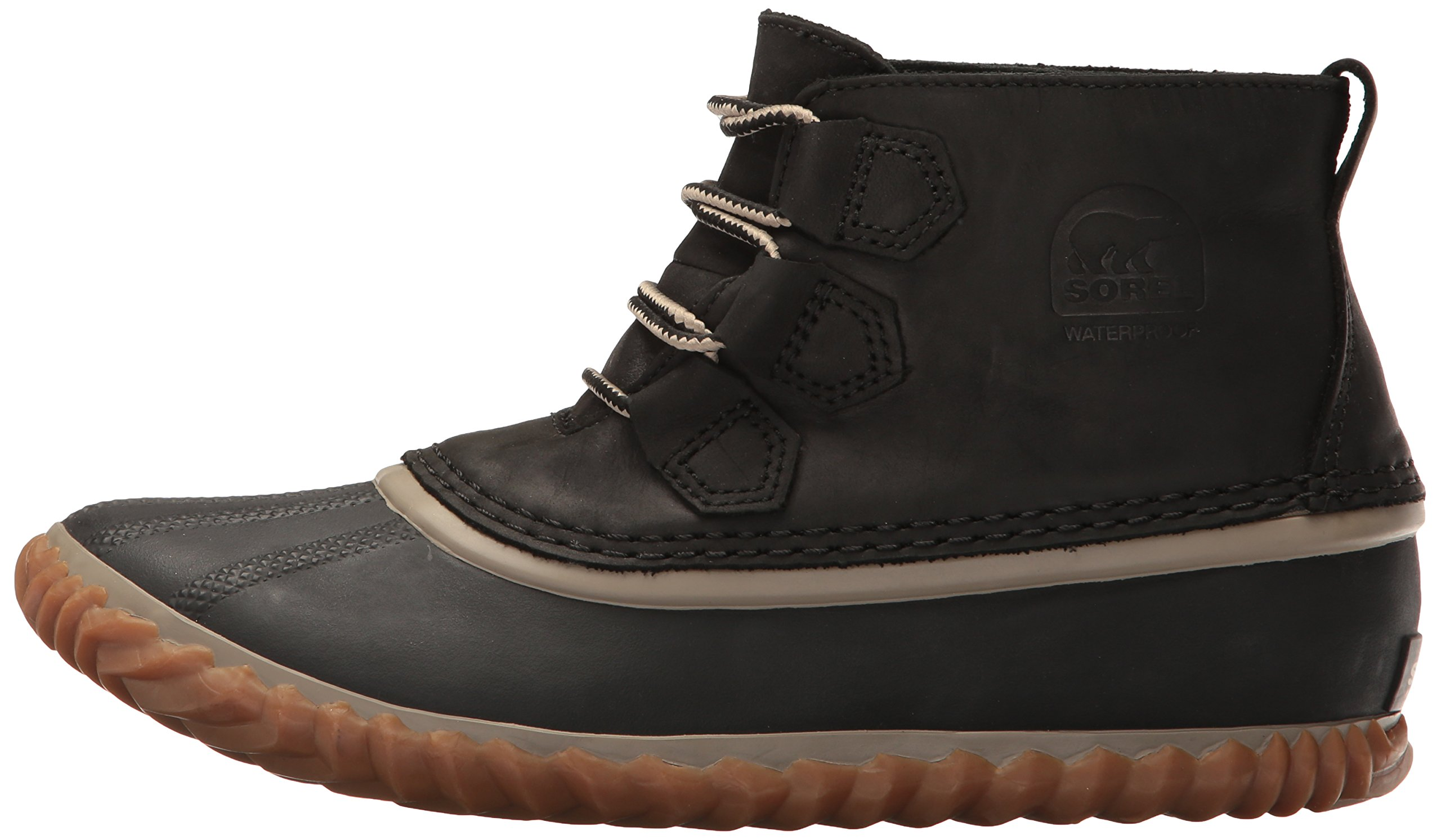 SOREL Women's Out N About Leather Rain Snow Boot, Black, 7.5 M US by SOREL (Image #5)