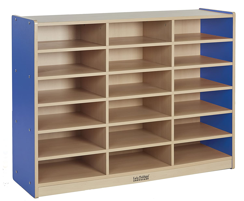 Good Amazon.com: ECR4Kids Colorful Essentials 18 Compartment Multi Purpose  Storage Cabinet, Maple/Blue: Industrial U0026 Scientific