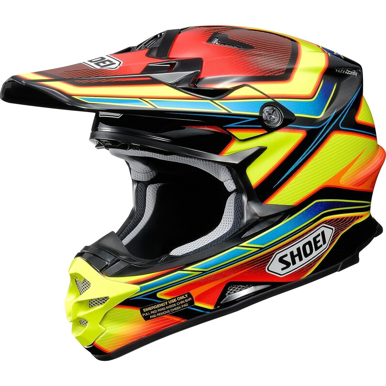 Shoei VFX-W Capacitor Motocross Helmet L Yellow Red Black (TC-3): Shoei: Amazon.es: Coche y moto
