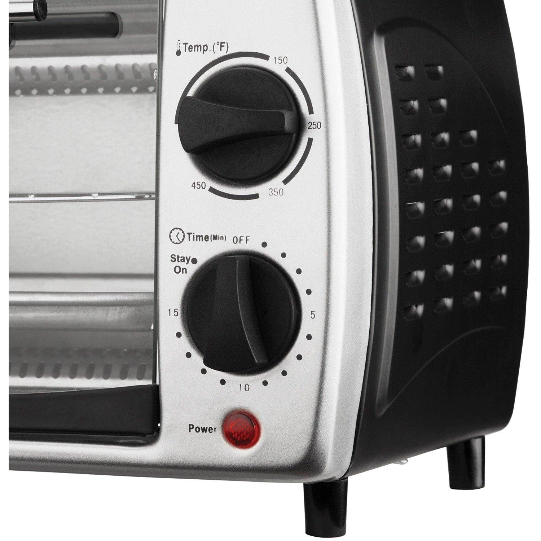 Brentwood Appliances TS-345B 4-Slice Toaster Oven Broiler Black