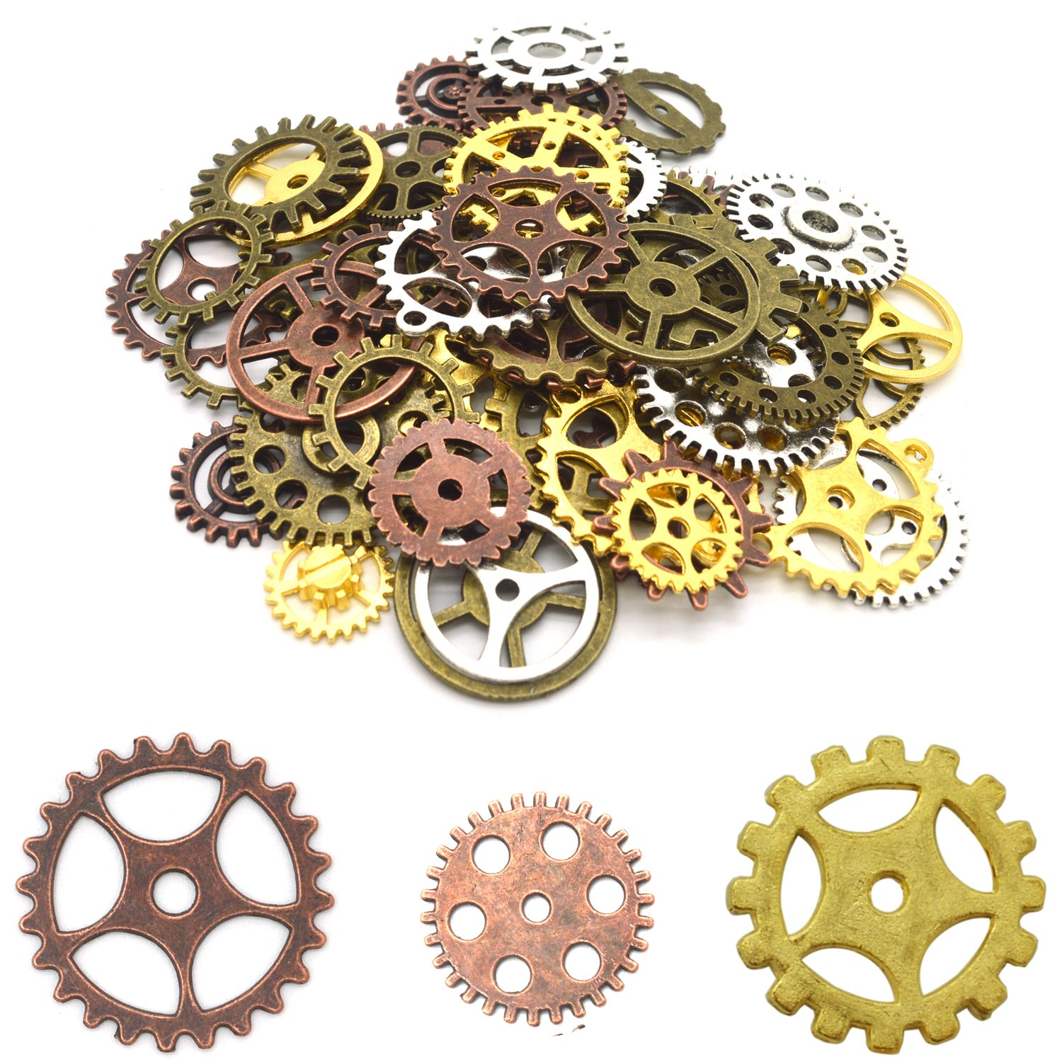 galleon 150 gram steampunk gears and cogs doubletwo silver bronze