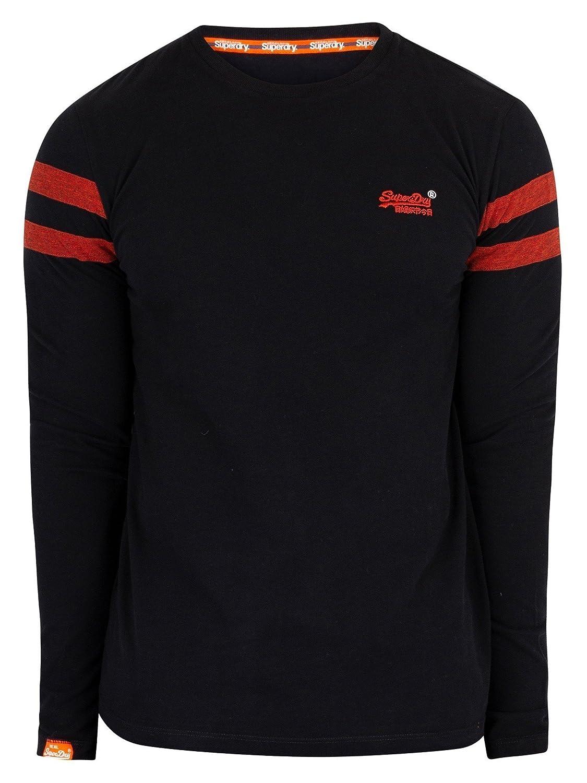 a38e9257 Amazon.com: Superdry Mens Orange Label Softball Ringer T-Shirt Black:  Clothing