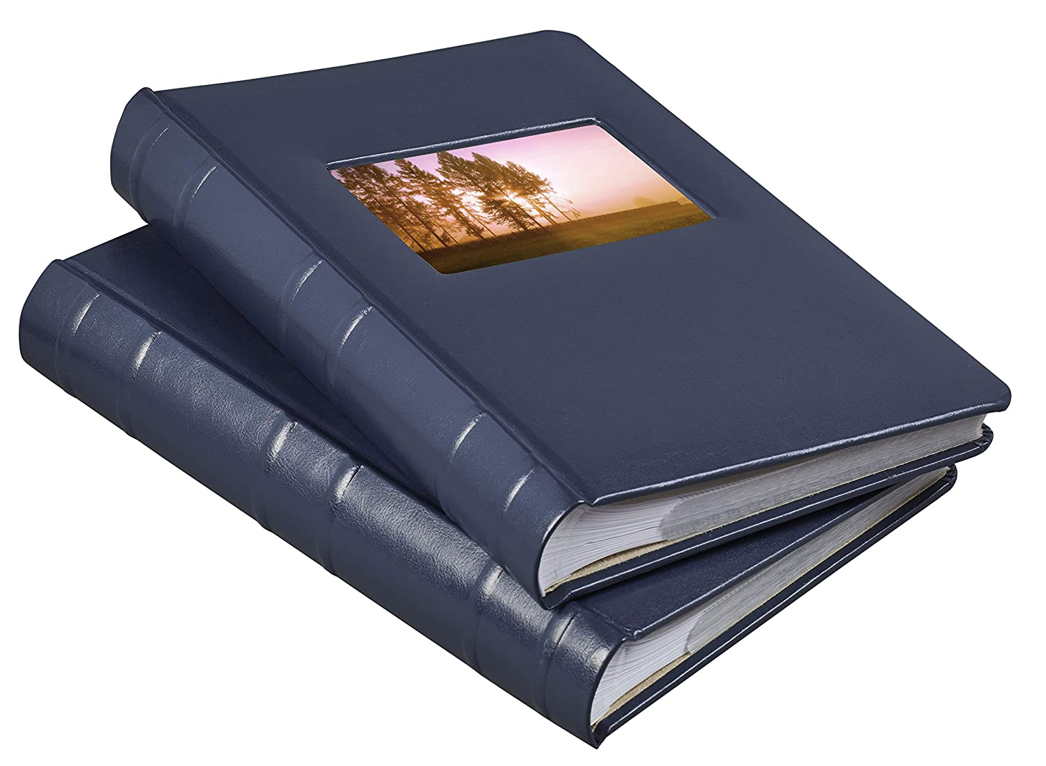 Old Town Bonded Leather Photo Album 2 Pack Navy