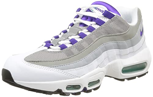 finest selection b9604 fafdd Nike Men s Air Max 95 OG, White Court Purple-Emerald Green-Wolf