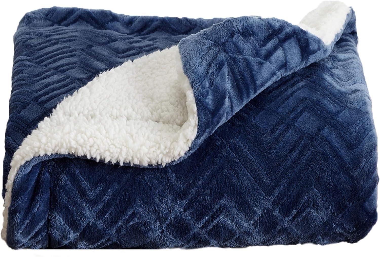 Home Fashion Designs Premium Reversible Sherpa And Fleece Velvet Plush Blanket Fuzzy Soft Warm Berber Fleece Bed Blanket Brand King Navy Kitchen Dining Amazon Com