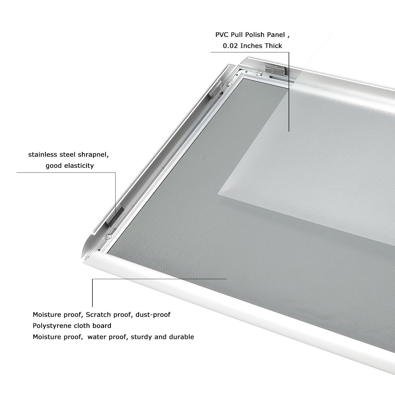 Snap Poster Frame 11/×17 Inches Aluminum Sign Frame 1 Sliver Profile,Professional Series 1 Sliver Profile SUERUI