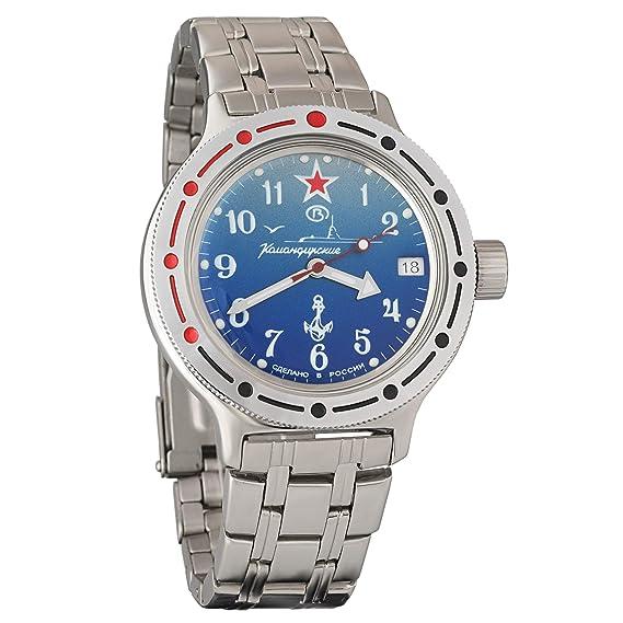 Scarpe 2018 scegli genuino ampia scelta di colori e disegni Vostok Amphibian 420289 Orologio subacqueo dei militari russi, colore blu