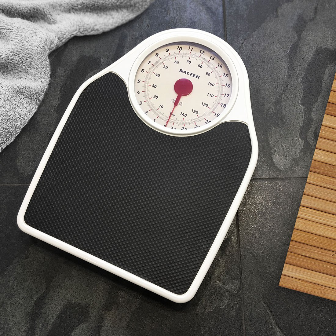 Retro bathroom scales - Salter Doctor Style Mechanical Bathroom Scales Retro White Black Accurate Weighing Easy To Read Analogue Dial Sturdy Metal Platform Weigh In St Lbs