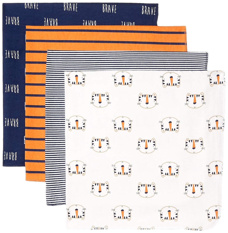 Happy Tiger Gerber Baby Boys 4-Pack Receiving Blanket 30 x 30