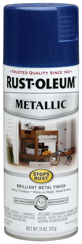 rust oleum 7251830 metallic spray cobalt blue 11 ounce ebay. Black Bedroom Furniture Sets. Home Design Ideas
