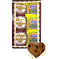 Linden's Cookies with Exclusive InPrimeTime Cookie Heart Magnet Bundle: 1/2 Case Chocolate Chip and 1/2 Case Butter Crunch- 18 Packs Per Case, 3 Cookies Per Pack