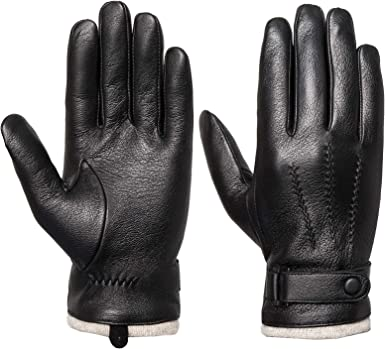 Mens Classic Black Winter Leather Gloves /& Mittens Driving TouchScreen Gloves Male Military Army Guantes Tacticos Women Gloves