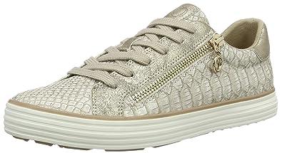 5821011eefe5 s.Oliver Damen 23615 Sneaker, Weiß silberfarben, 50 EU  s.Oliver ...