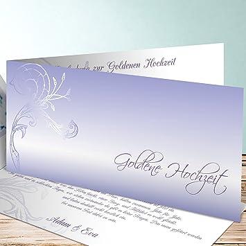 Einladung Goldene Hochzeit Gestalten | Einladungen Goldene Hochzeit Gestalten Fruhlingsgefuhle 30 Karten