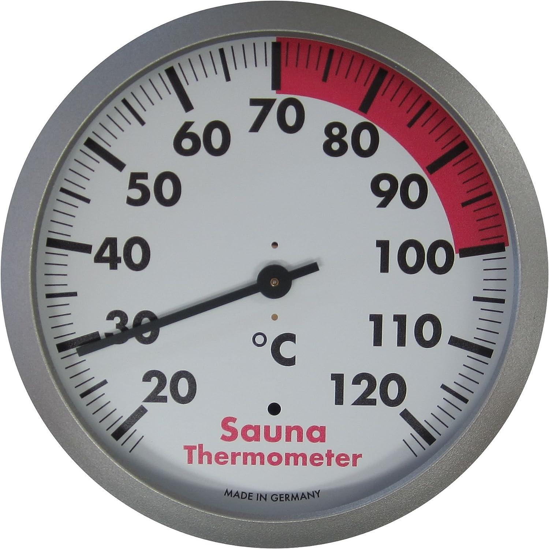 Blanco TFA Dostmann Term/ómetro para Sauna con Anillo de policarbonato L132 x B142 x H50 mm 40.1053.50