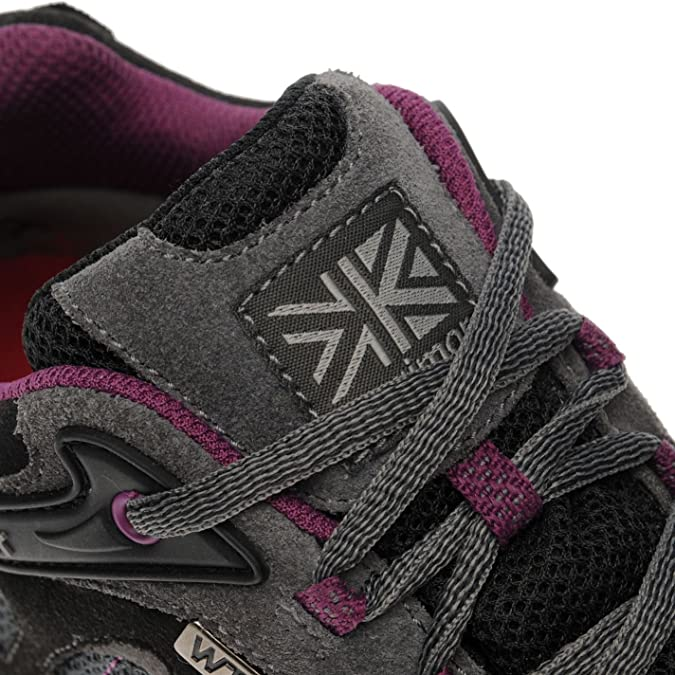 Womens Karrimor Ridge 2 WTX Black Purple Walking Hiking Ladies Shoes