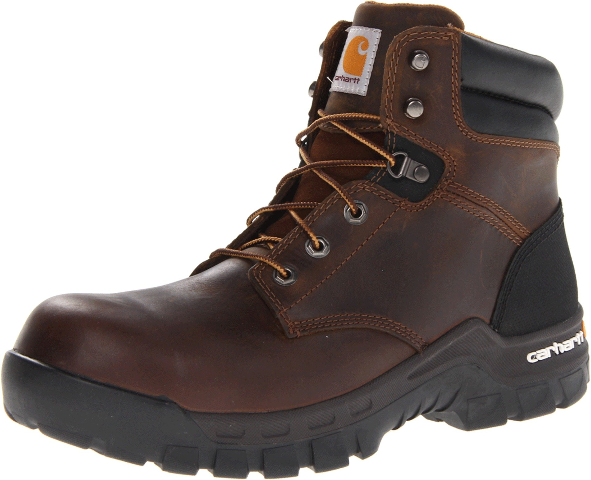Carhartt Men's 6'' Rugged Flex Waterproof Breathable Composite Toe Leather Work Boot CMF6366,Brown Oil Tanned Leather,11 M US