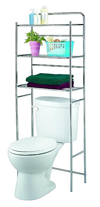 finnhomy 3 shelf bathroom space saver over toilet rack bathroom corner stand storage organizer accessories bathroom - Over The Toilet Bathroom Organizers