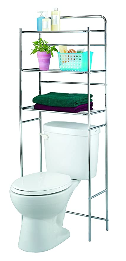 Finnhomy 3 Shelf Bathroom Space Saver Over Toilet Rack Bathroom Corner  Stand Storage Organizer Accessories Bathroom