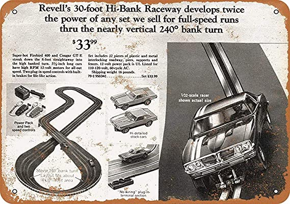 LORENZO 1/32 Slot Car Racing Vintage Metal Cartel de Chapa ...
