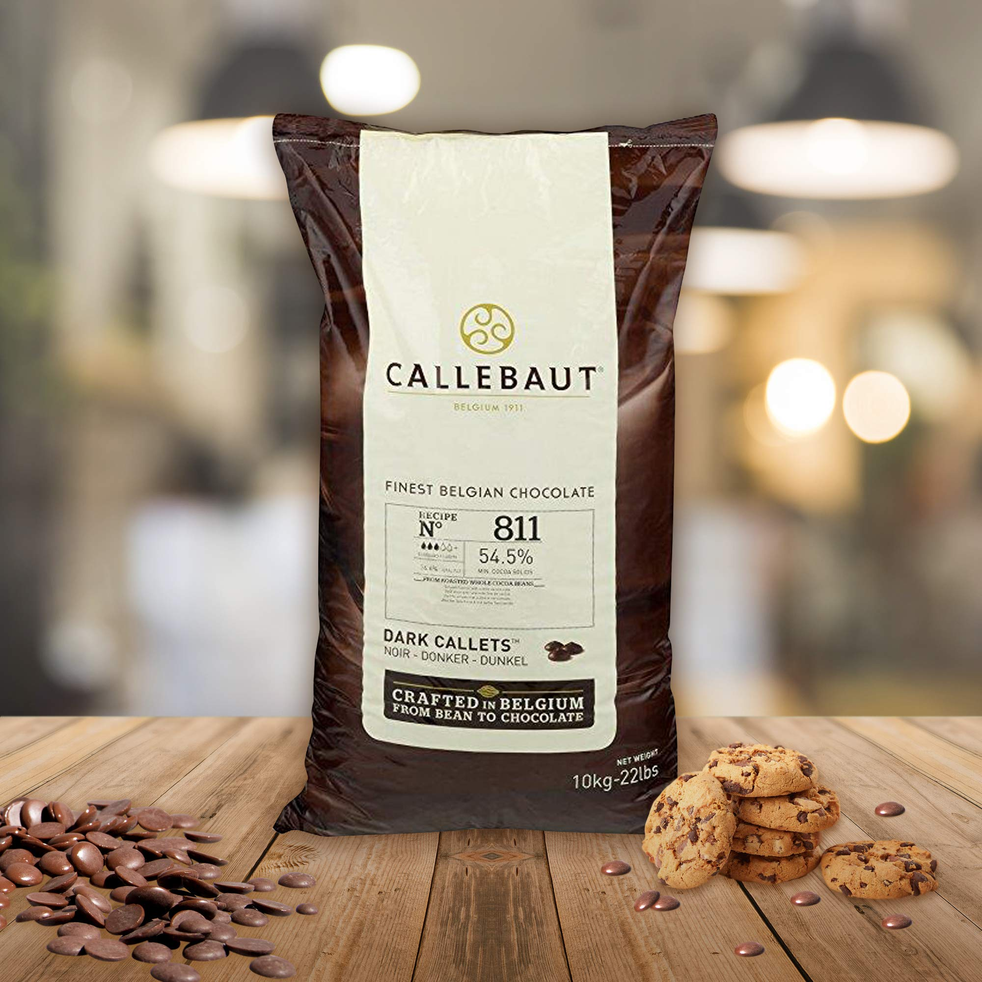 Belgian Dark Couverture Chocolate Semisweet Callets, 54.5% - 2 Pack - 2 x 5.5 Lbs (2 pack) (2 bags, 2x5.5 lbs) by Callebaut (Image #2)