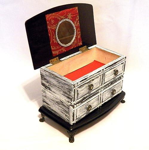 Amazoncom Personalized Jewelry Box Wood Jewelry Box Drawers