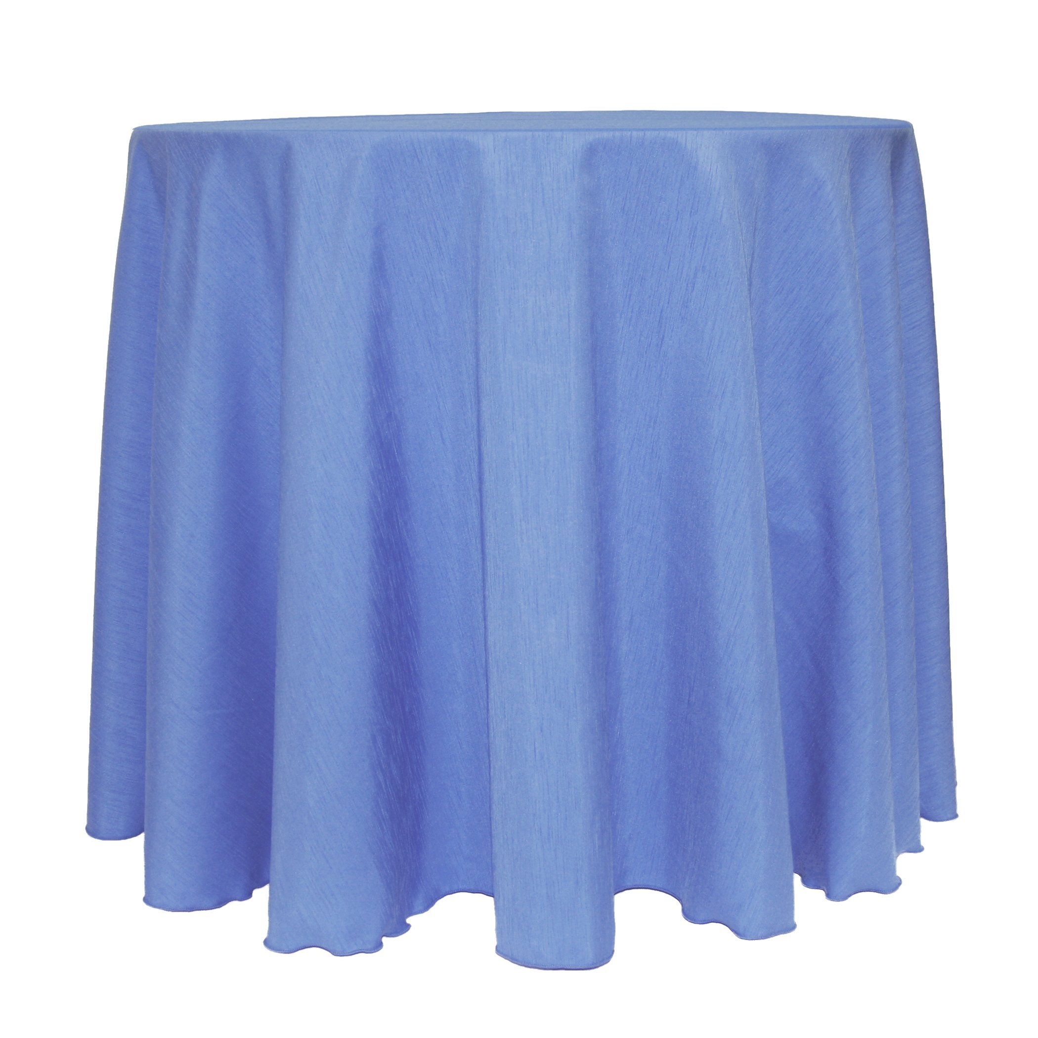 Ultimate Textile (5 Pack) Reversible Shantung Satin - Majestic 90-Inch Round Tablecloth - for Weddings, Home Parties and Special Event use, Periwinkle Blue