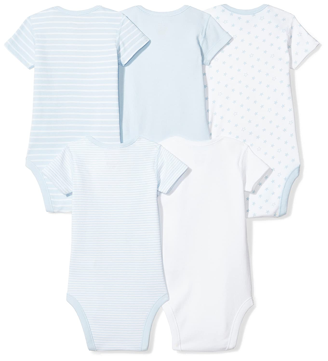 e992243ae12f Amazon.com  Moon and Back Baby Set of 5 Organic Short-Sleeve Bodysuits   Clothing