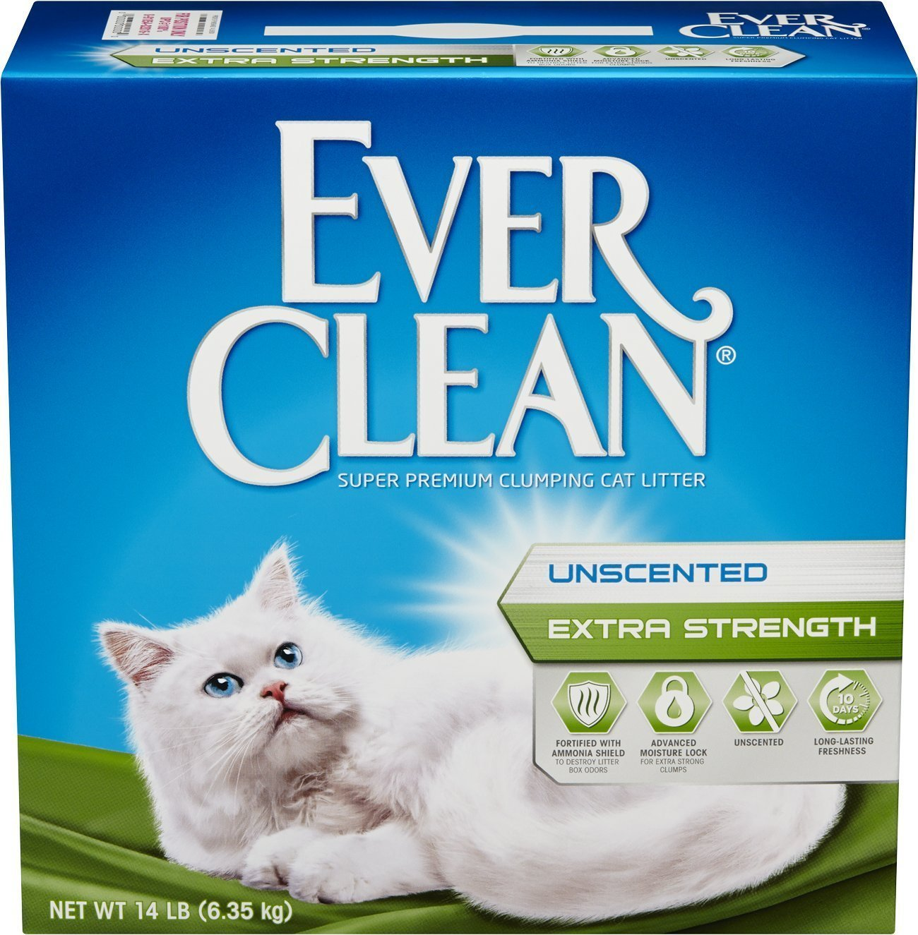 Ever Clean Extra Strength Cat Litter Unscented 14-Pound Box