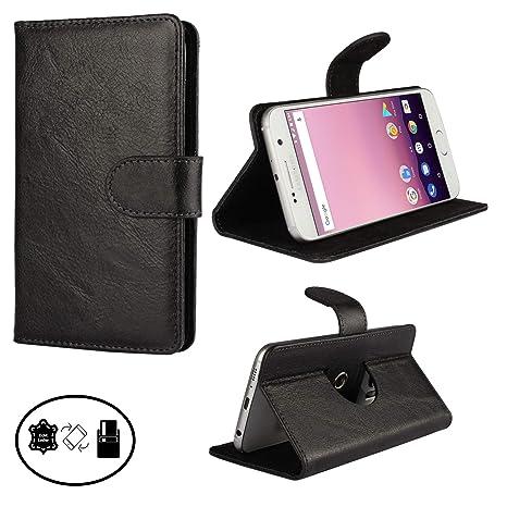 Handyhülle Für Fairphone 2 Lederhülle Schutzhülle Schutztasche - 360° Nano M Leder Schwarz