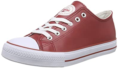 Damen Voll-Leder-Legara Sneakers, Rot (Red), 40 EU Nebulus
