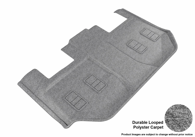 L1CH05822209 3D MAXpider Second Row Custom Fit All-Weather Floor Mat for Select Chevrolet Suburban//GMC Yukon XL Models Black Classic Carpet
