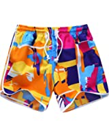 Sunshine Code Women's Quick Dry Boardshorts Bathing Suits Swimming Trunks Tropical Volley Beach Shorts