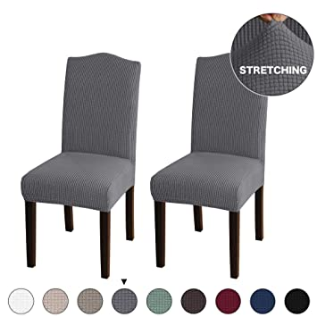 Amazing Turquoize 2 Pack Stretch Dining Room Chair Slipcovers Sets Stretch Chair Furniture Protector Covers Removable Washable Elastic Bottom Chair Cover For Machost Co Dining Chair Design Ideas Machostcouk